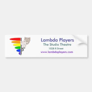 Lambda-spelare rikliga Sticket Bildekal