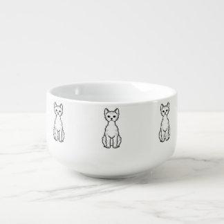 Lambkin dvärg- katttecknad kopp för soppa