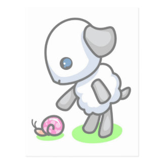Lamby-Pajen snigeln postar Vykort
