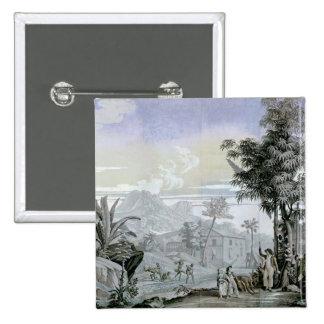 Lämna för en gå, illustration standard kanpp fyrkantig 5.1 cm