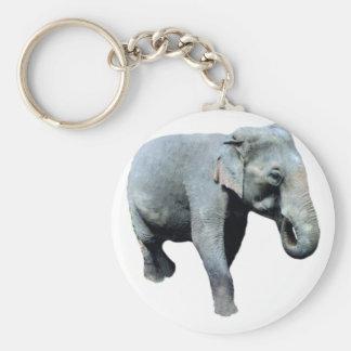 Lämnad Indo-China elefant 1p Nyckelring