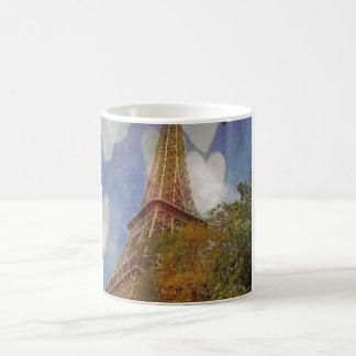 lämnade min hjärta i Paris Kaffemugg
