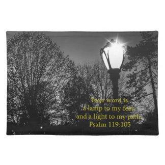 Lampa för 119:105 för bibelVersePsalm till min Bordstablett