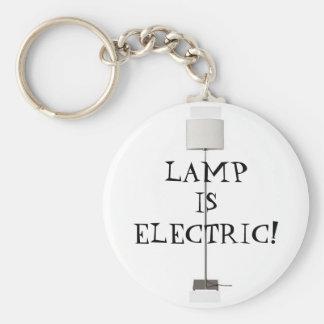 Lampan är elektrisk! rund nyckelring