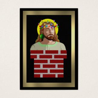 Lampglas Jesus Visitkort