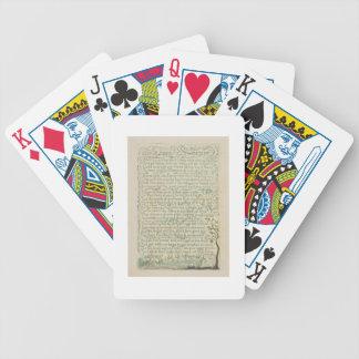 Lampglassoparen, pläterar recto 9 från 'sånger av spelkort