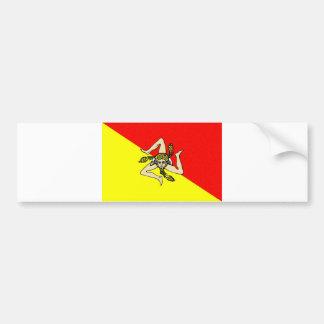Län för sicilia för italien för Sicily regionflagg Bildekal