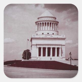 Lån foto för gravvintage fyrkantigt klistermärke