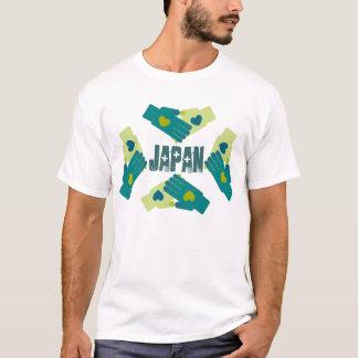 Låna din hjärta och räcker Japan lättnadsförsök Tee Shirt