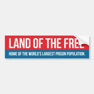 Land av det fritt bildekal