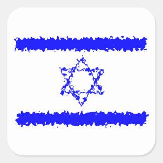 Land för flaggorIsrael blått Fyrkantigt Klistermärke
