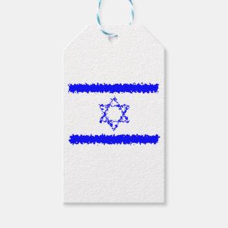 Land för flaggorIsrael blått Presentetikett