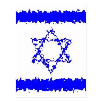 Land för flaggorIsrael blått Vykort