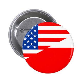land för United States Amerika poland halvt Standard Knapp Rund 5.7 Cm