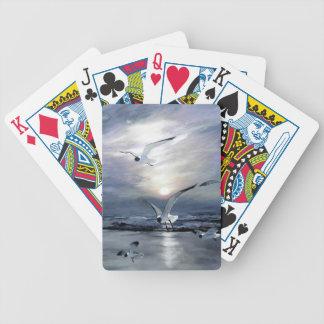 Landa för fiskmåsar spelkort