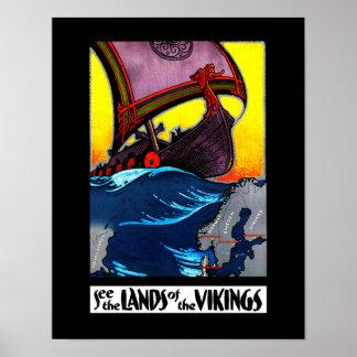 Länder av den Vikings affischen Poster