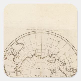 Länder placerar om nordpolenen fyrkantigt klistermärke
