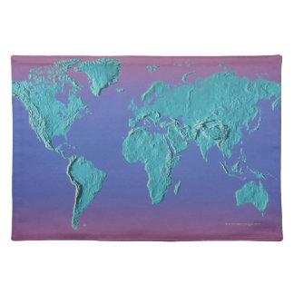 Landet samlas kartan bordstablett
