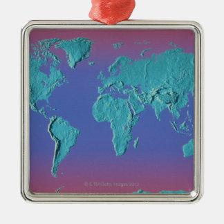 Landet samlas kartan julgransprydnad metall