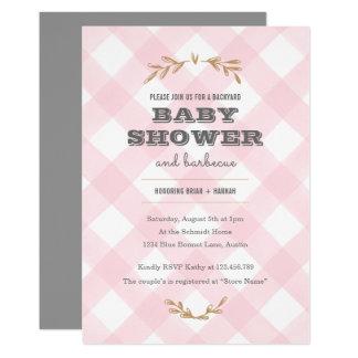 LandGinghambaby shower 12,7 X 17,8 Cm Inbjudningskort