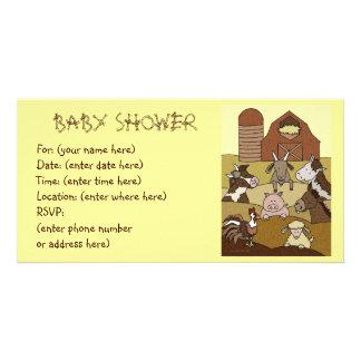 Landliv 10 baby shower anpassingsbara fotokort