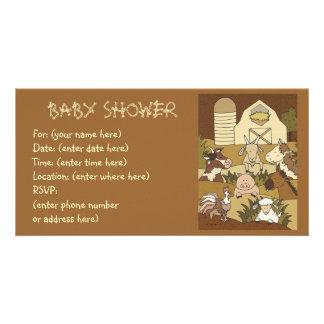Landliv 21 baby shower fotokort