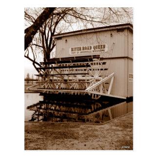Landmark för flodfartygdrottning vykort