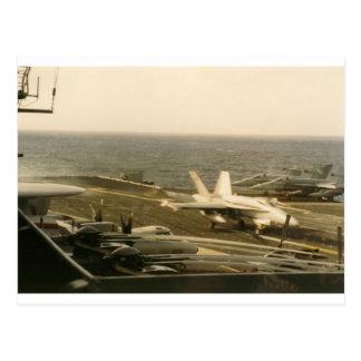 Landning för bålgeting F18 på USS-NÖJESGATAN Vykort