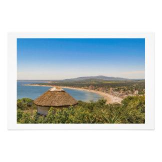 Landskap antennen beskådar Piriapolis Uruguay Fototryck