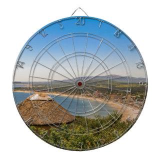 Landskap antennen beskådar Piriapolis Uruguay Piltavla