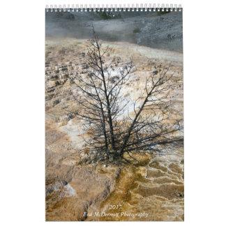 Landskap av väster och öster kalender