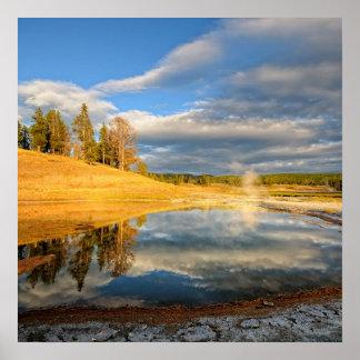 Landskap av Yellowstone Poster