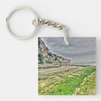 Landskap bilden som tas i Corfu, Grekland