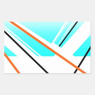 Landskap den abstrakt hamnminimalisten för bris rektangulärt klistermärke
