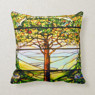 Landskap det sceniska träd för det andliga Tiffany Kudde