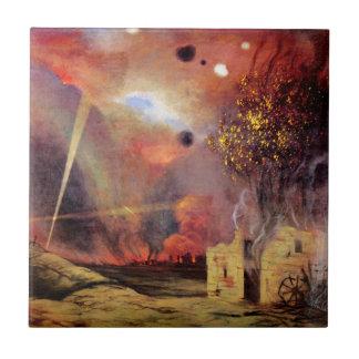 Landskap fördärvar och avfyrar av vid Felix Kakelplatta