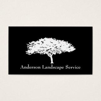Landskap kortet för trädborttagningssvarten visitkort