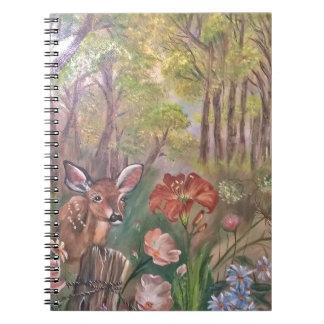 landskap målar målning räcker konstnaturen anteckningsbok med spiral