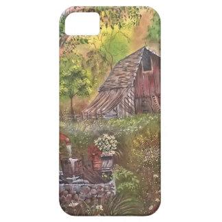 landskap målar målning räcker konstnaturen iPhone 5 hud