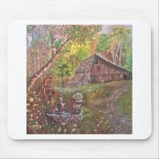 landskap målar målning räcker konstnaturen musmatta