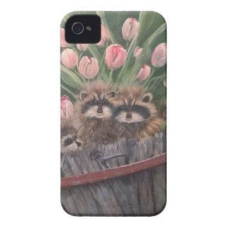 landskap målar målning räcker konstnaturRacoons iPhone 4 Case-Mate Skydd