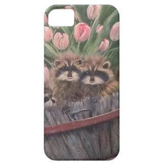 landskap målar målning räcker konstnaturRacoons iPhone 5 Cover
