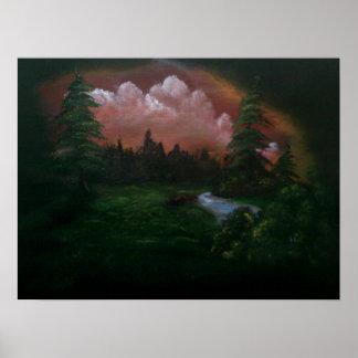 Landskap målning