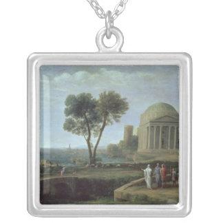 Landskap med Aeneas på Delos, 1672 Silverpläterat Halsband