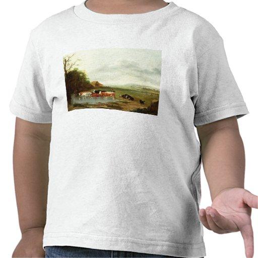 Landskap med en Herdsman och ett nötkreatur (olja T Shirts