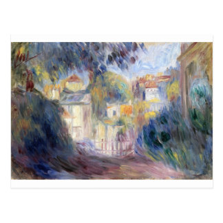 Landskap med röda tak vid Pierre-Auguste Renoir Vykort