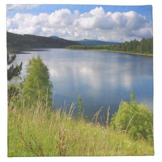 Landskap med sjön tygservett