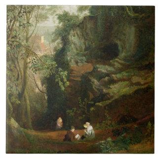 Landskap nära Clifton, c.1822-23 (olja på kanfas) Kakelplatta