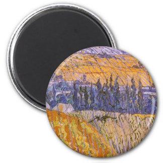 Landskap på Auvers i regna, Vincent Van Gogh Magnet