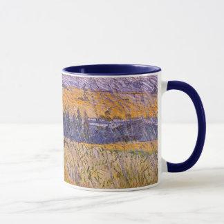 Landskap på Auvers i regna, Vincent Van Gogh Mugg